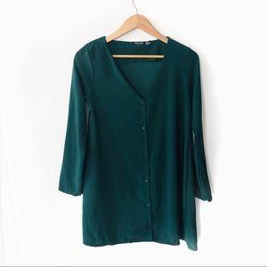 nasty gal • button up Green Dress